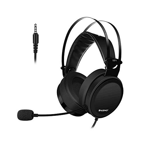 Top Deals Gaming Headset für Play Station 4 Tablet PC iPhone 6/6s/6 Plus/5s/5c/5 Handys, 3,5 mm Kopfhörer Beige 1 One Size