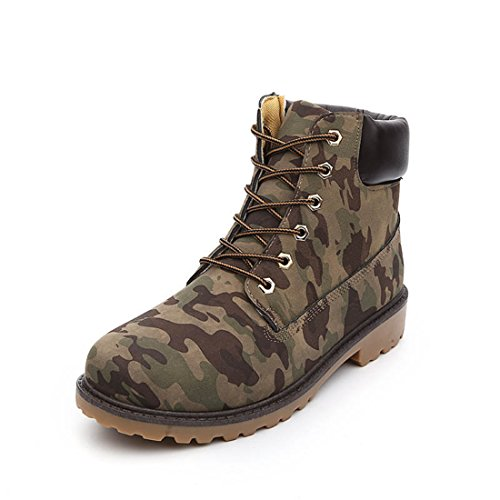 Men's Martin Velvet Casual Tooling Shoes Camouflage thick