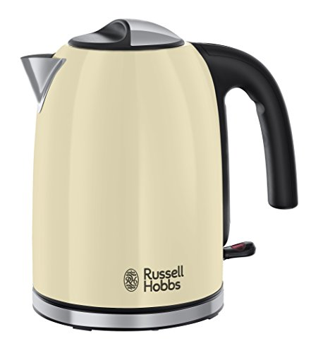 Russell Hobbs Colour Plus Kettle 20415, 3000 W, 1.7 L - Cream Best Price and Cheapest