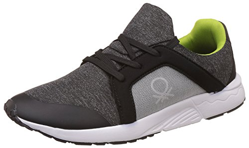 United Colors of Benetton Men's Black Sneakers - 7 UK/India (41 EU)
