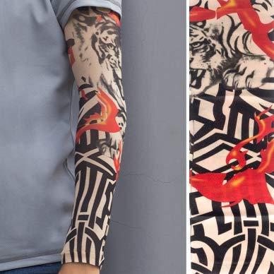 JinRui-Sport Tattoo Sleeve Tattoo Ärmel Männliche Blume Arm Tattoo Ärmel Driving Sun Ärmel, L, W004 2 Packungen - Sun Keltische Tattoo