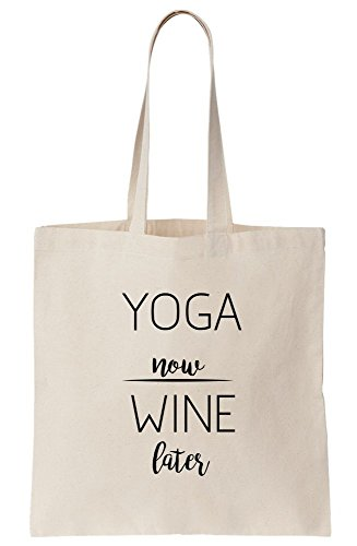 Namaste Yoga-tote (Yoga Now - Wine Later Canvas Tote Bag)