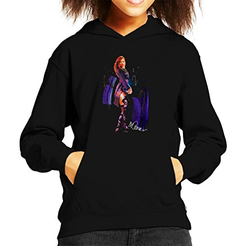 Sidney Maurer Original Portrait Of Rihanna Long Boots Kid's Hooded Sweatshirt (Boot Hooded Sweatshirt)