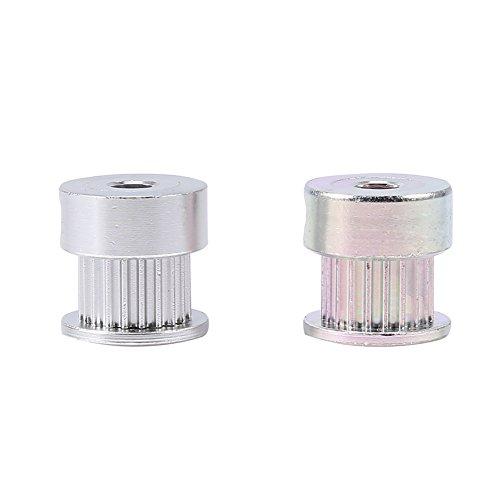 20 Zähne Alloy Gear, 2 Stück Aluminiumlegierung Zahnscheibe 5mm Innendurchmesser 20 Zähne für 3D-Drucker -