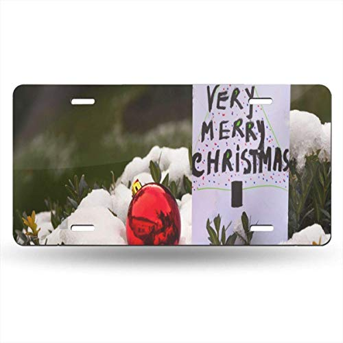 FunnyCustom License Plate Frame White Jugs As A Park Decoration Fantastic Aluminum Metal Tag Holder Waterproof 12 x 6 Inch Decoration Tag Jug