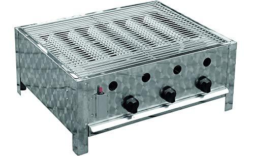 Traedgard Gastro-Bräter mit Edelstahl Grillrost, 3-Brenner, 10KW   64x52cm Grillfläche