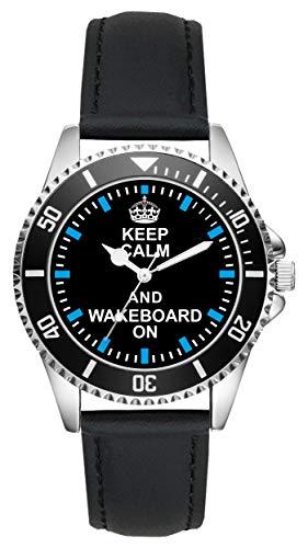 Wakeboard Geschenk Artikel Idee Fan Uhr L-2057