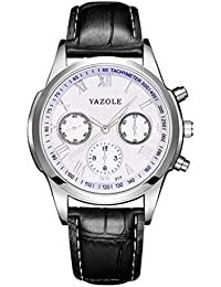 Hermosos Relojes 317 Watch Reloj de Hombre Correa de Reloj de Cuarzo de Luminosa no mecanico
