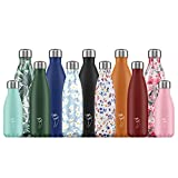 Chilly's Bottles | Leak-Proof, No Sweating | BPA-Free Stainless Steel | Reusable Water Bottle | Double Walled Vacuum Insulated | Keeps Drinks Cold for 24+ Hrs, Hot for 12 Hrs | Silver, 500ml