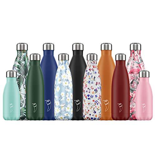 Botellas de Frío | A Prueba de Derrames, No Transpirables | Acero Inoxidable sin BPA | Botella de Agua Reutilizable | Aislamiento de Vacío de Doble Pared | Mantiene las Bebidas Frías durante más de 24 horas, Calientes durante 12 horas | Rojo Mate, 500ml