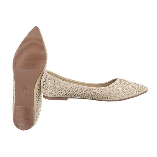 Ital-Design - Scarpe chiuse Donna Beige