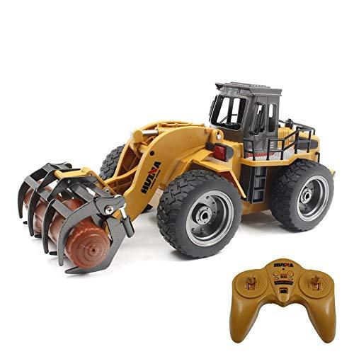 Waroomss RC Baufahrzeuge,1:18 2.4G baufahrzeuge ferngesteuert, Metall Gabel Fernbedienung Greifer Engineering Lkw Kinderspielzeug*