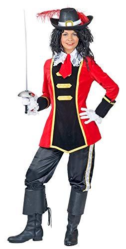 Musketier Kostüm Damen Rot - Musketier Julee Kostüm für Damen