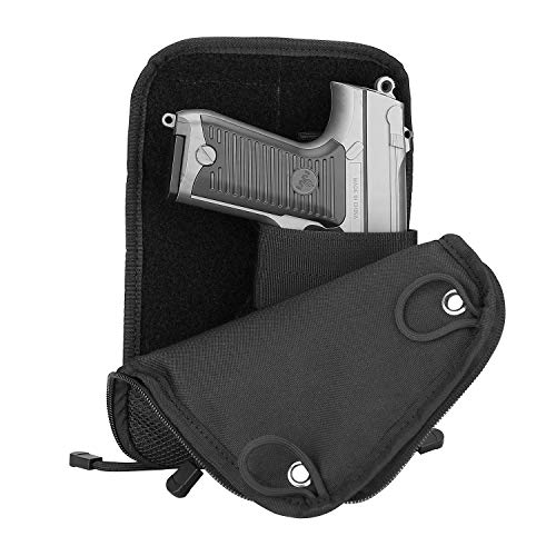 Procase borsa per pistola, tactical soft shooting gun gamma borsa per armi rivista pouch duffle bag per caccia o tiro range sport- nero