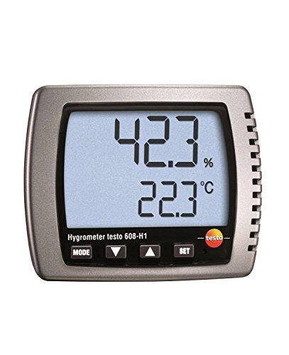 Testo 0560 6081 608-H1 Thermo-Hygrometer, Feuchte-/Taupunkt-/Temperatur-Messgerät, inklusive Batterien