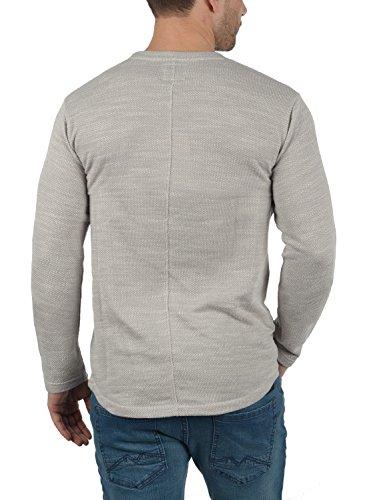 REDEFINED REBEL Mackson Herren Sweatshirt Pullover Sweater mit Rundhals-Ausschnitt aus 100% Baumwolle Meliert Mid Grey
