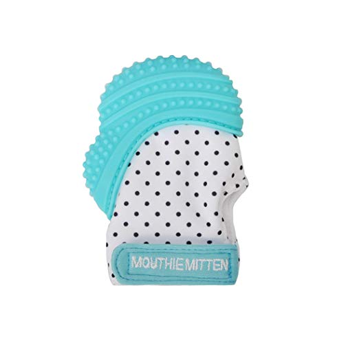Mouthie Mitt Baby Teething Glove Aqua-USA Award Winning Baby Mitten  Soothing Pain Relief- 91a878ee1532