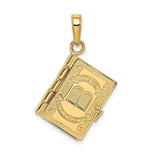 Jewels By Lux 14K Zehn Gebote Bibel Anhänger