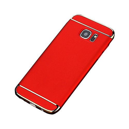 For Samsung Galaxy S6 Edge Plus Case VMAE 3in1 Electroplate Case Shockproof Full Body Non Slip Matte Surface Protection Cover Ultral Slim Hard PC Lightweight Matte Case For Galaxy S6 Edge Plus Red