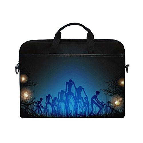 jstel Halloween Totenkopf Laptop Schulter Messenger Tasche Fall Sleeve für 35,6cm zu 39,6cm mit verstellbarer Notebook Schultergurt