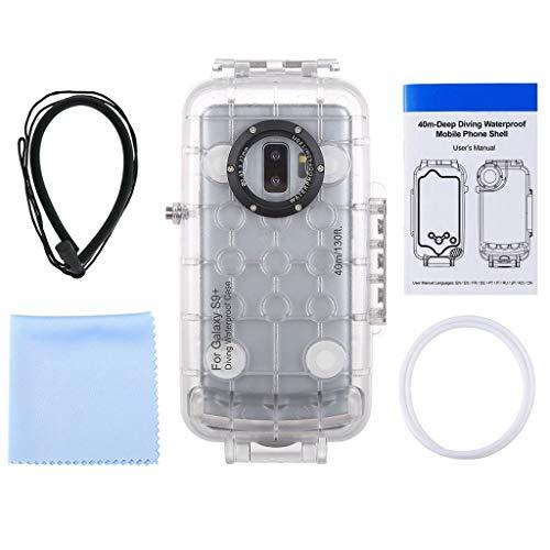 Mumuj Unterwasser Gehäuse für Samsung S9 +, Tauchen Shell 40m Smartphone Professional Waterproof Schutzgehäuse Shell Schützende Wasserdicht Hülle mit Lanyard mit 1/4 '' Schraubenloch (Klar) (Schützende Smartphone-wasserdicht)