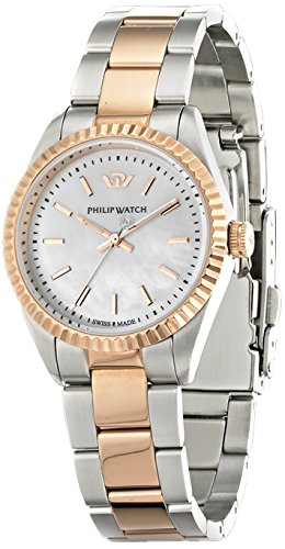 Philip Watch Caribbean r8253107513 – Ladies Watch – Analogue Quartz – Mother of Pearl Dial Silver Steel Strap