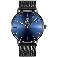 Dita relojes impermeable hombres cuarzo reloj de pulsera Ultra fina piel estudiante reloj de cuarzo Fashion Simple moda grande reloj de cuarzo reloj, 1