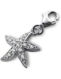So Chic Joyas - Colgante Charm Estrellas de mar Plata 925