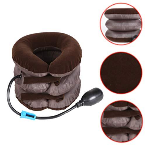 EffulxS Reisekissen, aufblasbar, Nacken-/Halswirbel-Zuggerät, Kopf, Rücken, Schulter, Nacken, Schmerzlinderung Multi
