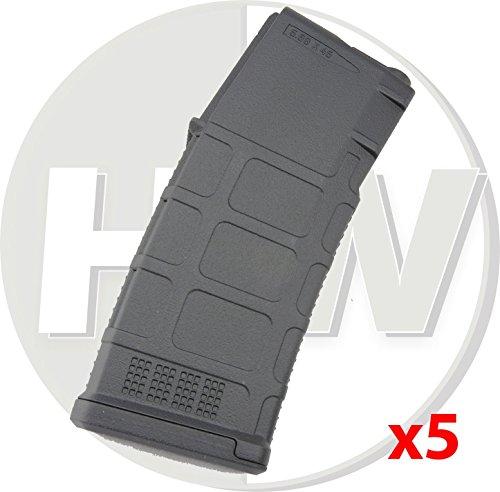 AIRSOFT BOX SET 5x PTS BETA PROJECT PMAGS M4 MID CAP MAGAZINES BLACK 140rds