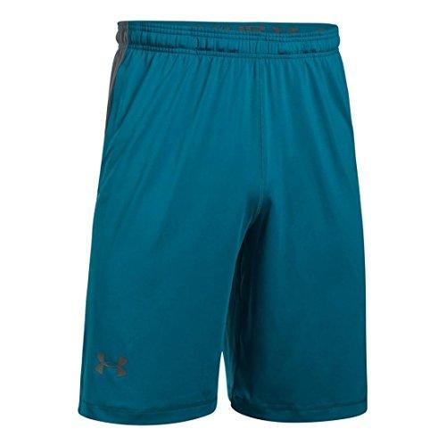 Under Armour, RAID Graphic shorts Bayou Blue/ Absinthe Green Medium Heather