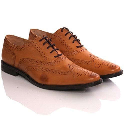 Unze Oxford Robe de Sentigo ' Nouveaux Mens Lace Up Cuir espagnol, Chaussures Mode bronzage