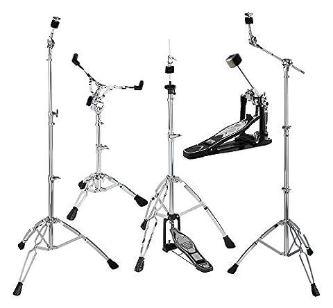 XDrum HP-1000 Hardware Pack (5-teilig, Beckenständer mit versenkbarem Galgen, gerader Beckenständer, Snare Drum-Ständer, Fußmaschine, (Cymbal Stand Pack)