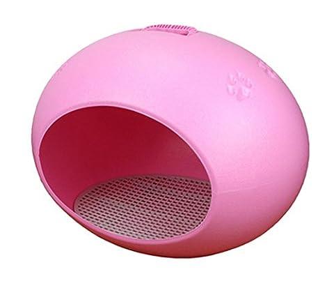 Chien chat Maison en plastique d'oeufs Avec la cage amovible de natte Chenil Lit durable facile à nettoyer , Pink