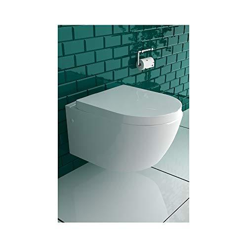 Weiss Keramik Toilette Wand Hänge WC mit Bidet/Taharet Funktion mit Soft-Close Dusch WC -