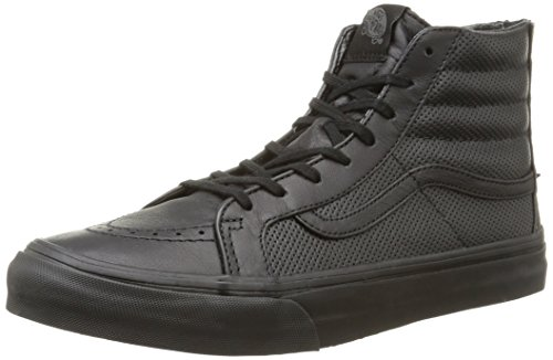 Vans U Sk8-hi Slim Zip Scotchgard, Unisex-Erwachsene Sneakers Schwarz (perf Leather/black/black)
