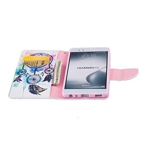 BoxTii® - Custodia a portafoglio in pelle + pellicola protezione schermo in vetro temperato, con cover posteriore, per Apple iPhone 6/6S, modello floreale con cinturino da polso e scomparti per carte  #8 Feather