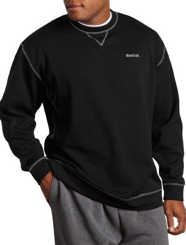 Reebok Big & Tall Play Dry Fleece Crewneck (4XL, Black) (Reebok Play Dry)