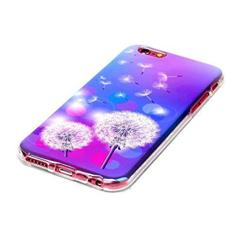 Wkae Case & Cover Pour iPhone 6 &6s IMD pissenlits Motif Housse de protection TPU souple Blu-ray ( SKU : IP6G2040K ) IP6G2040B