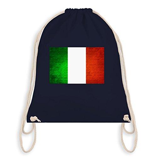 Shirtracer Länder - Flagge Italien - Unisize - Navy Blau - WM110 - Turnbeutel & Gym Bag