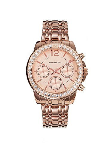 Mark Maddox Women's Quartz Watch with Rose Gold Dial Analogue Display and Rose Gold Bracelet MM6004-95