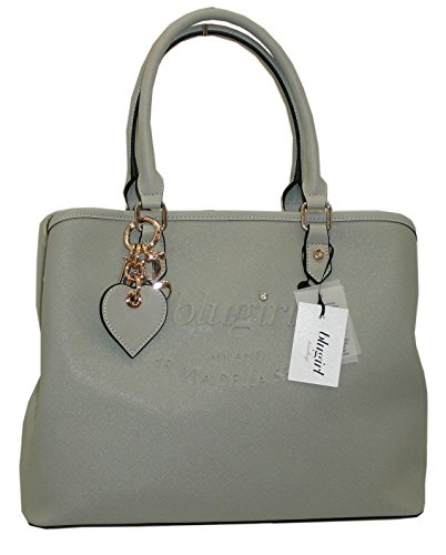 Borsa shopping BLUGIRL by blumarine BG 829005 women bag grigio saffiano pvc