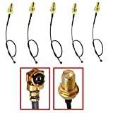 Circe-eu RF u. FL (IPEX/IPX) Mini PCI zu RP-SMA Buchse Pigtail Antenne Wifi Koaxial Low Loss Kabel, Länge 15,2cm/15cm, 5Stück