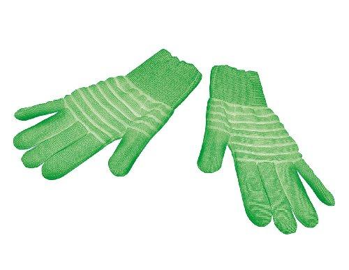 infactory Handschuhe für Halloween: 1 Paar nachleuchtende Handschuhe Glow-in-the-dark, Gr. XL (Paar Leucht-Handschuhe)
