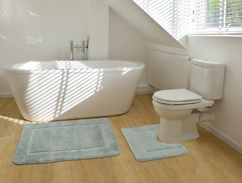 2 Teiliges Badematten Set Rechteckiges Badezimmer Teppich Und Toiletten Matte Sett