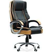 Green Soul Vienna High-Back Leatherette Office Chair (Black & Tan)