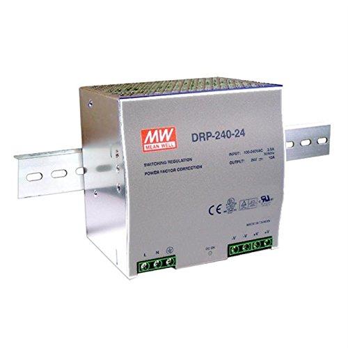 Hutschienen Netzteil 240W 24V 10A ; MeanWell, DRP-240-24 ; Hutschienennetzteil 24v 10a Netzteil