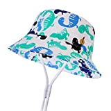 Boomly Baby Sonnenhut UV-Schutz Baumwolle Eimerhut Karikatur Drucken Schirmmütze Angelhut mit...