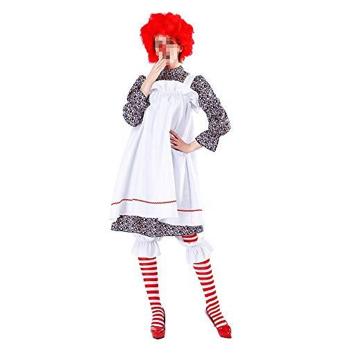 Krankenschwester Kostüm Verrückte - YyiHan Halloween Kostüm, Outfit Für Halloween Fasching Karneval Halloween Cosplay Horror Kostüm,Halloween Verrückter Clown Cosplay Circus Maid Bar Bühnenkostüm