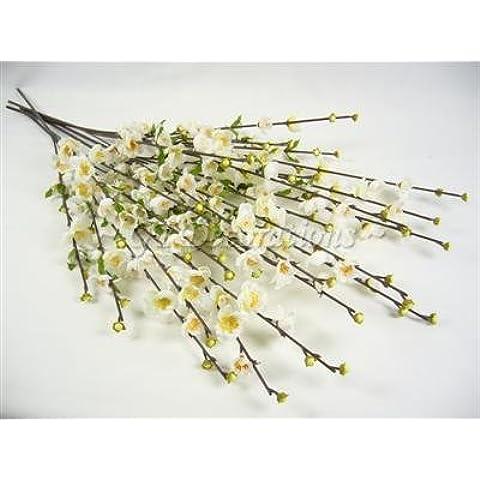 GT Decorations - Paquete de 12tallos de flores de cerezo de seda Artificial flor 71cm de cerezo tallos, de 71cm de GT